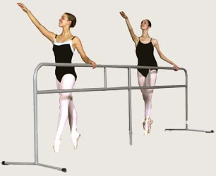 Portable Ballet Barre 13' Grey PortaBarre