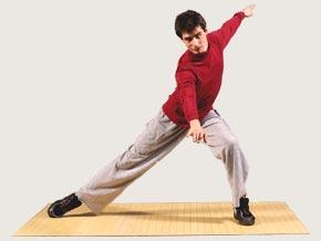 Tap Dancer On Potable Dance Floor
