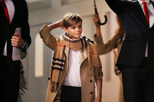 Romeo Beckham Dances in Latest Burberry Ad.