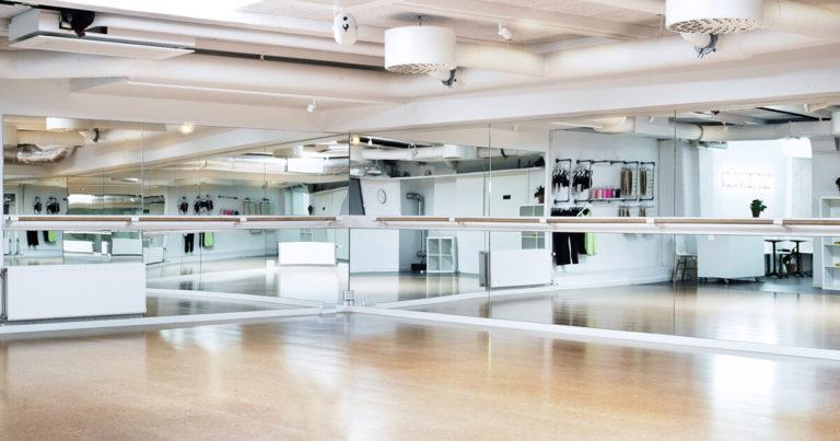 Fitness Barre Brackets Installed in a Studio