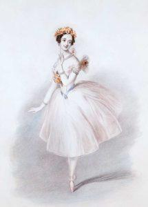Marie Taglioni wearing a Romantic Tutu