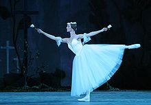 Ballerina Natalia Kolosova as Myrtha in Giselle - a romantic ballet.