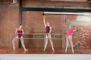 EnPointe's StudioBarre in Gray Aluminum with swivel feet.